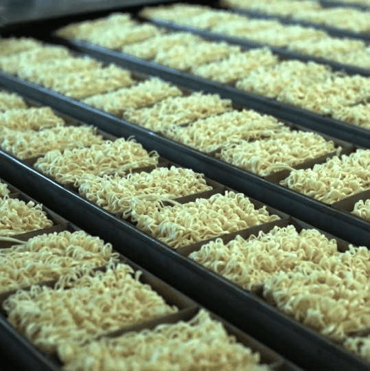 Production capacity instant noodles